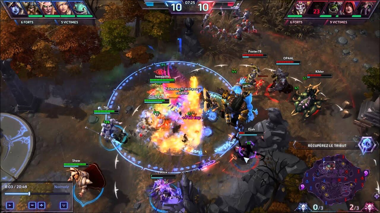 Heroes of the Storm Team Fight
