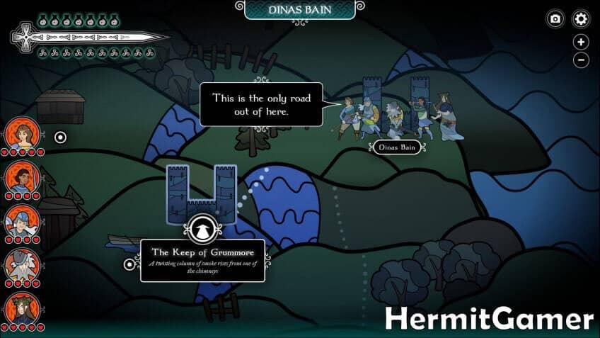 Pendragon Map Screen