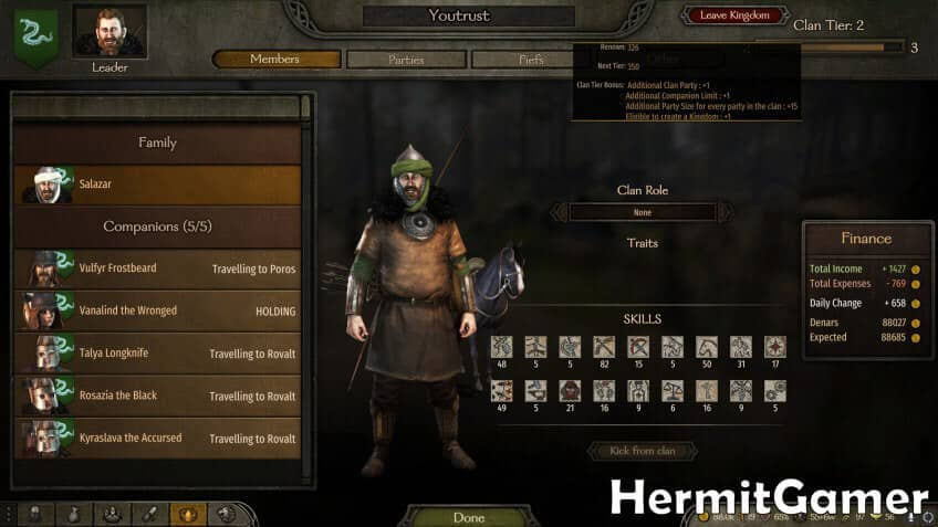 Mount & Blade 2 Bannerlord clan