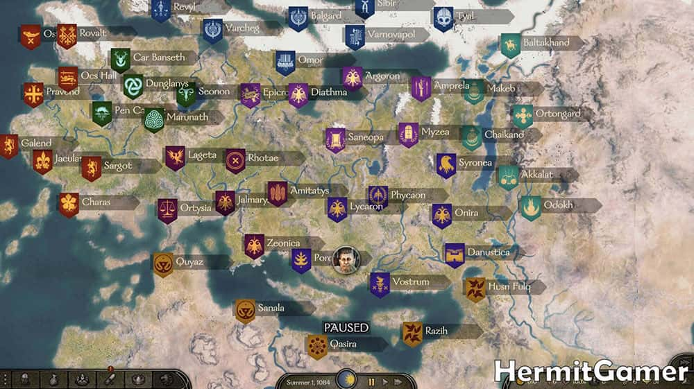 Mount & Blade 2 Bannerlord World Map
